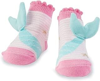 Mud Pie Baby Girl Pink and Blue Sealife Mermaid Tail & Stars Socks 11040040