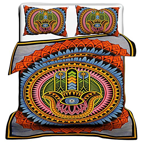Charoli Enterprises Parure de lit réversible en coton avec m