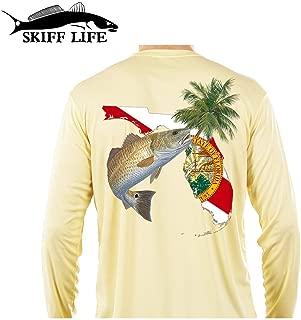 Redfish Florida Fishing Shirt with FL State Flag Sleeve