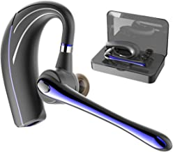 Bluetooth Headset, Handsfree Earpiece Wireless Earphone in-Ear Earbud Headphone with Microphone and Mute Key for Business/Office/Driving