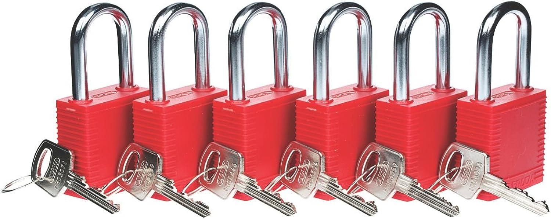 Brady Brady Brady Lockout Sicherheit Vorhängeschlösser 6 Pack B01I8N1Y9G | Vorzüglich  4c9bf4