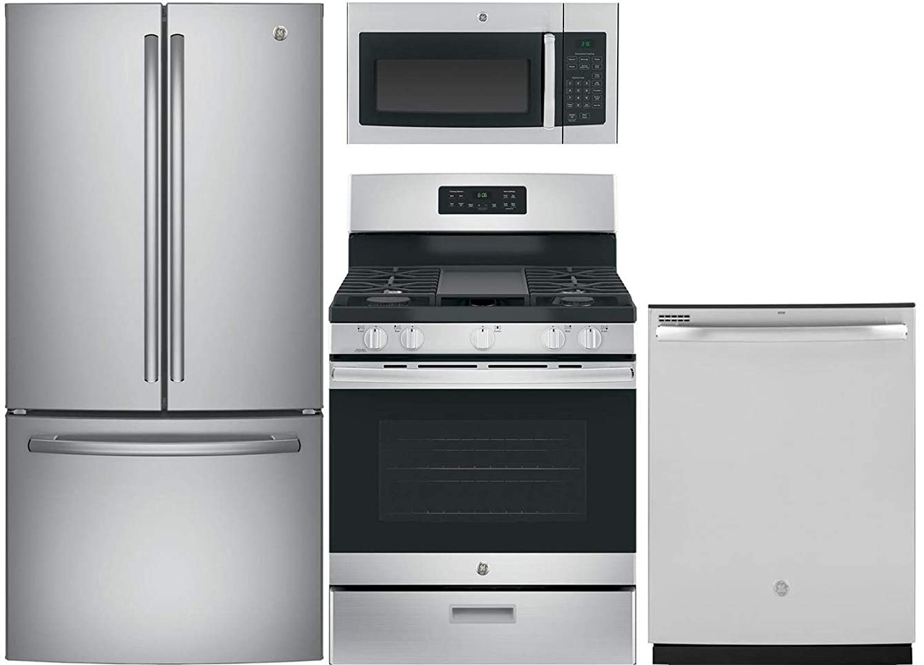 GE 4 Pcs Kitchen Package With JGBS66REKSS 30