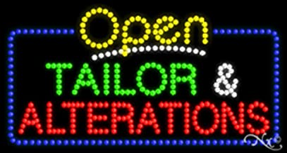 17x32x1 inches Tailor & Alteration Animated Flashing LED Window Sign