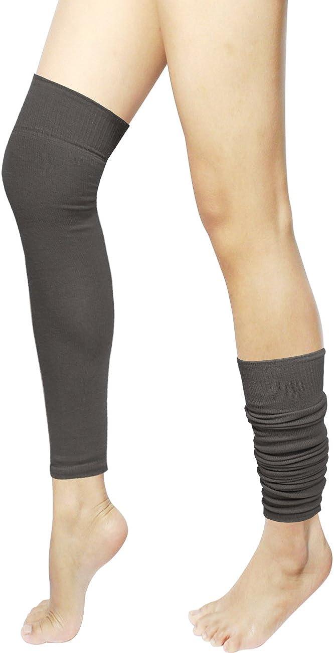 Dahlia Women's Leg Warmers - Knee High & Thigh High - Solid Colors