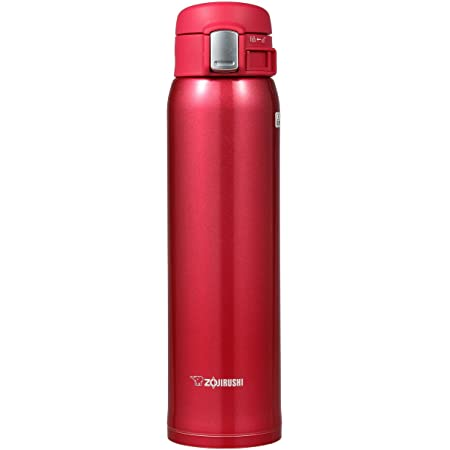 Zojirushi SM-SA60RW Stainless Steel Vacuum Insulated Mug, 1 Count (Pack of 1), Clear Red