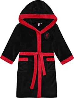 Liverpool FC Official Soccer Gift Mens Hooded Fleece Dressing Gown Robe
