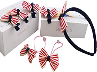X-SPORT Hair Ties Rubber Bands for Women Girls Elastic Hairband Hair Clip Pack of 7