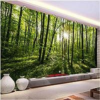 Lcymt 壁紙自然の風景緑の森風景壁画テレビの背景壁紙壁紙-280X200Cm