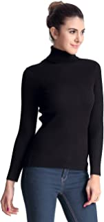 Women's Ribbed Turtleneck Long Sleeve Sweater Tops