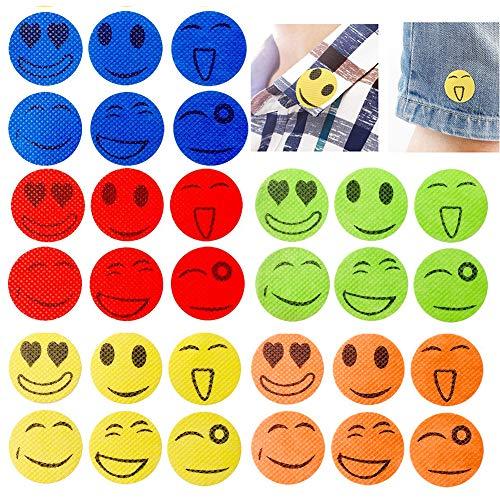 Xiton 150PCS Smiling Face Mückenschutz Aufkleber Anti-Moskito-Patches von Citronella Ätherische Öle Zufällige Farbe