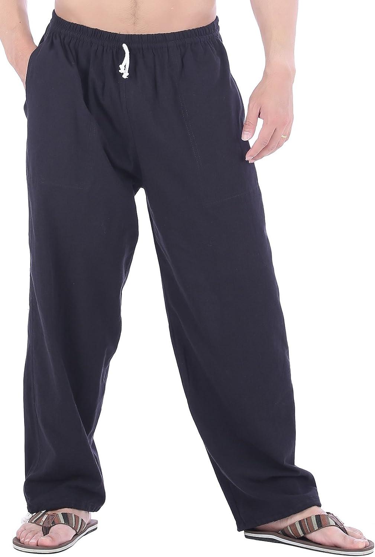CandyHusky Mens Cotton Loose Joggers Casual Lounge Pajama Gym Workout Yoga Pants
