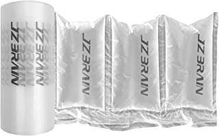 JZBRAIN Air Cushion Film 72002 Air Bubble Bags Wrap Packing Roll, 1 Roll 200mm X 100mm X 200m X 0.02mm Air Cushion Films ONLY Compatible with JZBRAIN Air Cushion Machine