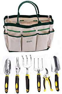 Micozy Gardening Tools Arbor Day Set 7-Piece Garden Kit & Garden Tool with Heavy Duty Cast-Aluminum Heads Ergonomic Handles