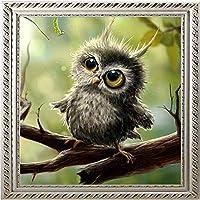 数字で描く動物40x40cmアート写真セットぬりえ装飾キャンバス壁アートクラフトDIY油絵数字でフレームなし