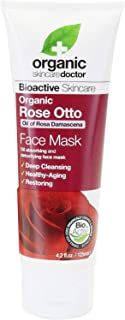 Dr. Organic Bioactive Skincare Rose Otto Face Mask 125ml - helps to stimulate the circulation deep into the capillaries to...