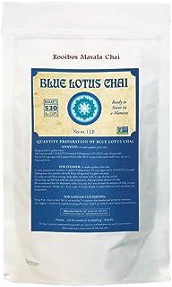 Blue Lotus Chai - Rooibos Masala Chai - Makes 530 Cups - 1 Pound Bulk Bag Masala Spiced Chai Powder with Organic Spices - ...