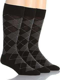 Argyle Cotton Crew Socks 3-Pack
