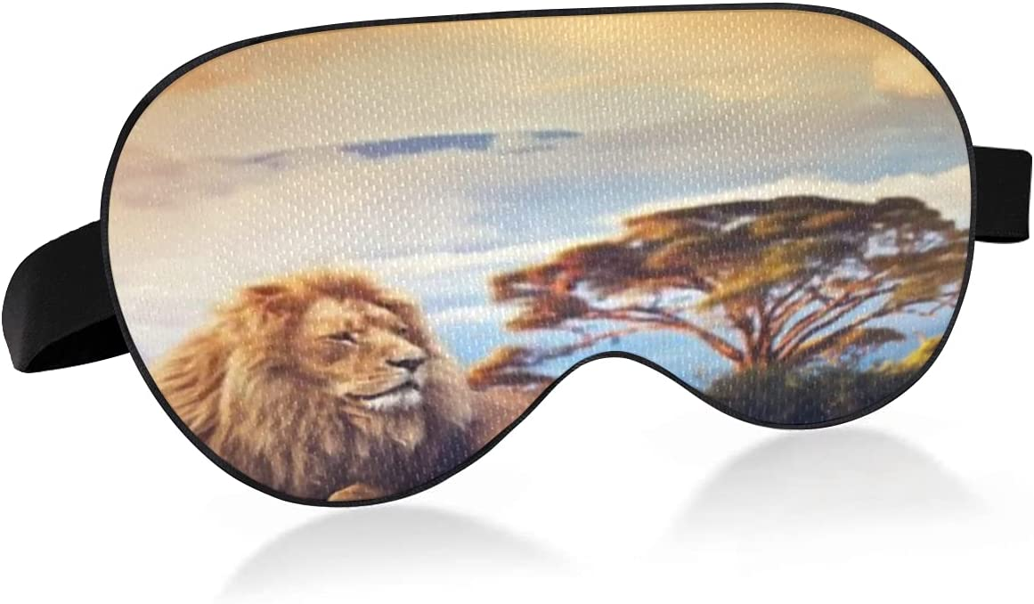 Sleep Mask OFFicial store with Eyes Columbus Mall That Block Relieve Lion and Dry Light