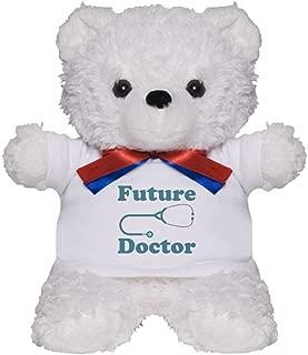 CafePress Future Doctor with Stethoscope Teddy Bear, Plush Stuffed Animal