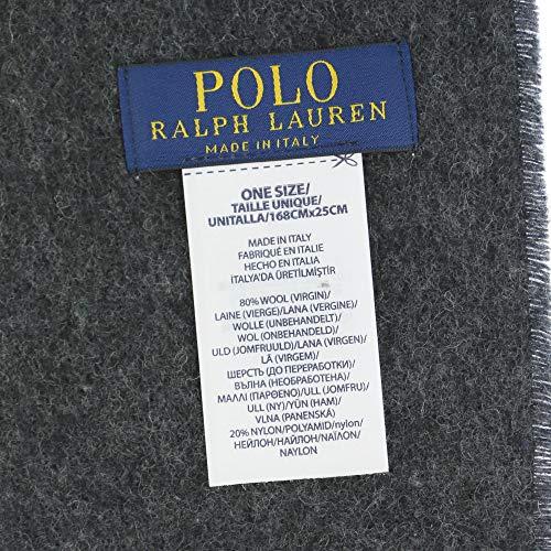 ポロラルフローレン(POLORALPHLAUREN)マフラー・ストールPC0455433リバーシブルウールブレンドダークネイビー/ダークグレー[並行輸入品]