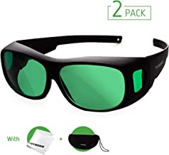 VIVOSUN 2-Pack Indoor Hydroponics LED Grow Room Glasses with Glasses Case