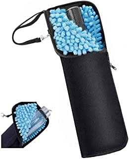 折り畳み傘カバー 防水ファスナー 超吸水 2面超吸水 携帯便利 傘ケース 傘入れ 折りたたみ傘カバー 袋 梅雨対策 吸水力抜群 軽量 携帯便利 (34 CM)