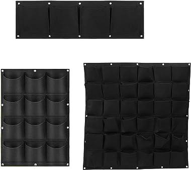 grefen Lot de 12 sacs de plantation en tissu non tissé à suspendre au mur - Pour intérieur ou extérieur