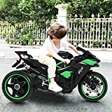 LDANDAN 12V Electric Motorcycle Kids Ride on Toys, Mini Electric Bike with Flashing Wheels ,LED Light , Subwoofer, Freestyle Bicycle for Boys Girls Over 3 Years Old. (Black(3-Wheels)