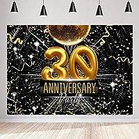 写真撮影の新しい30周年記念の背景250×180cmレトロなディスコをテーマにした背景大人の真珠の結婚式のパーティーBdayバナーYouTube写真撮影の小道具23