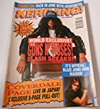 Kerrang! magazine(UK Publication) issue 476, January 8,1994***with 8 Page Coverdale/Page LIVE IN JAPAN pull out**(GUNS N ROSES on cover)[single issue magazine]***WEAR on COVER, CORNERS***MINOR CUT ON COVER***