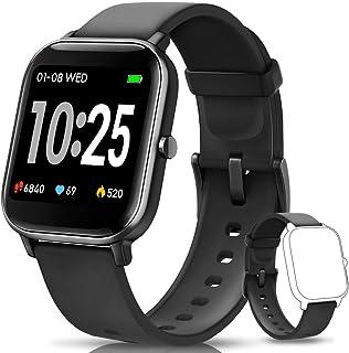 AIMIUVEI Smartwatch, Reloj Inteligente IP67 con Pulsómetro, Presión Arterial, 7 Modos de Deportes y GPS, Monitor de Sueño ...