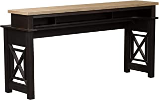 Liberty Furniture Industries Heatherbrook Console Bar Table, W74 x D21 x H36, Black