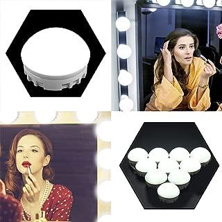 Tomshine LED Vanity Mirror Lights Kit, Hollywood Style Makeup Bulbs for Makeup Vanity Table Set in Bathroom Dressing Room (10 Light Bulbs & 5 Levels Brightness Display), White