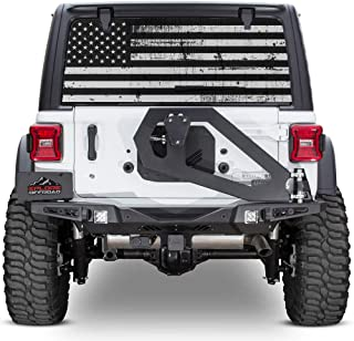 7b573b25 XPLORE OFFROAD - Jeep Wrangler American Flag Rear Window Decal (Perforated)