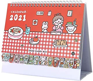 $24 » YAMIA Desktop Calendar 2021 Desktop Calendar,Cute Desk Standing Flip Calendar 12 Monthly Calendar Daily Organizer Planner,...