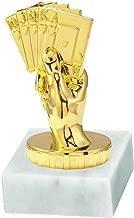 Flamme silbergold mit Ihrer Wunschgravur 3 Sticker RaRu Extravaganter Poker-Pokal