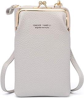 Vohoney Handy Umhängetasche Damen Handy Schultertasche Kleine Tasche Frauen Brieftasche Cross-Body PU Leder Shoulder Bag K...