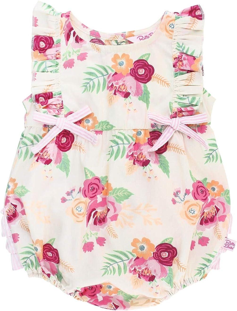 RuffleButts Baby Toddler Girls Sleeveless Flutter One Piece Nashville-Davidson Mall Romp Houston Mall