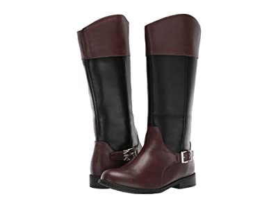 MICHAEL Michael Kors Kids Emma Cash (Little Kid/Big Kid) (Black/Brown) Girls Shoes