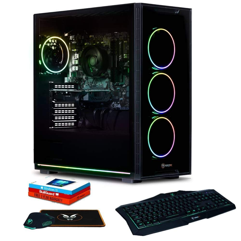 Fierce Apache RGB PC Gamer Paquete - Rápido 4.7GHz Octa-Core Intel Core i7 9700, 1TB SSD, 16GB de 3000MHz, NVIDIA GeForce GTX 1660 6GB, Windows 10 Instalado, Teclado (UK/QWERTY), Raton 475145: Amazon.es: Informática