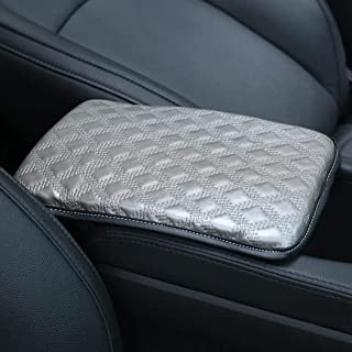 Auto Center Console Pad, Forala Car Leather Armrest Seat Box Cover Protector Universal Fit (A-Gray)