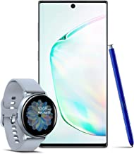 $1018 » Samsung Galaxy Note 10 Factory Unlocked 256GB, Aura Glow with Galaxy Watch Active2 W/Enhanced Sleep Tracking Analysis,Silver