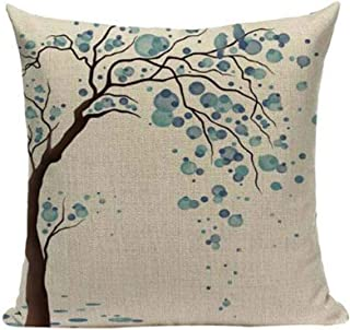 LYN Cotton Linen Square Throw Pillow Case Decorative Cushion Cover Pillowcase for Sofa 18X 18 Lyn-82 (7)