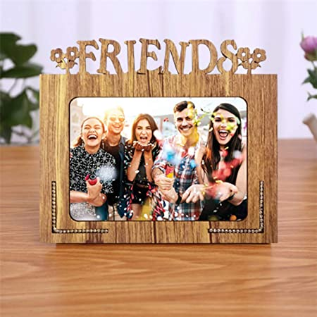 Generic Wood Glass Mdf Table Photo Frame (5 x 7 inch, Brown)