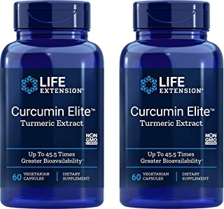 Life Extension Bio-Curcumin Elite 400 mg 60 Vegetarian Capsules (2 Pack)