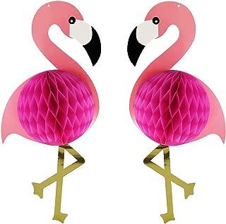 2Pcs Flamingo Honeycomb Hanging Decorations 21