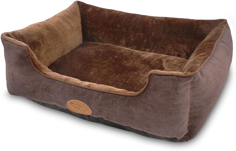 Best Pet Supplies VB479KM Plush Modern Pet Bed, Medium, Dark Auburn
