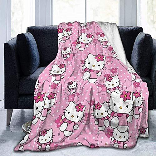 Premium Flanell Fleece Decke - Hello Kitty Soft Warm Gemütliche Micro Decke Für Sofa Couch - 50X40 In
