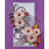 SoeHong Kit de pintura por número de dibujo sin marco Quilling pintura de papel crisantemo lienzo acrílico pintura pintada a mano regalo decoración de la pared colorido arte arte arte arte