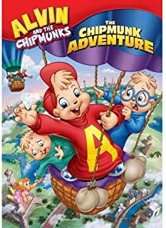 Alvin and the Chipmunks Cartoon Cloth Wall Scroll Poster (32' x 42') with - The Chipmunk Adventure